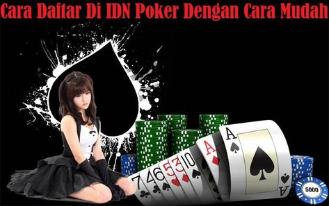 What is the process involved in registering IDN poker?